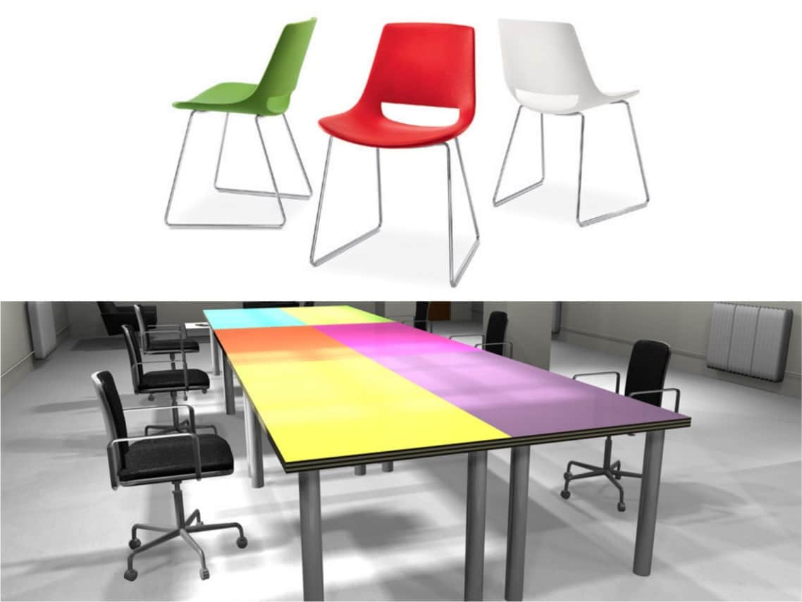 1School inspiration Colour desk Palm chair spaceist blog