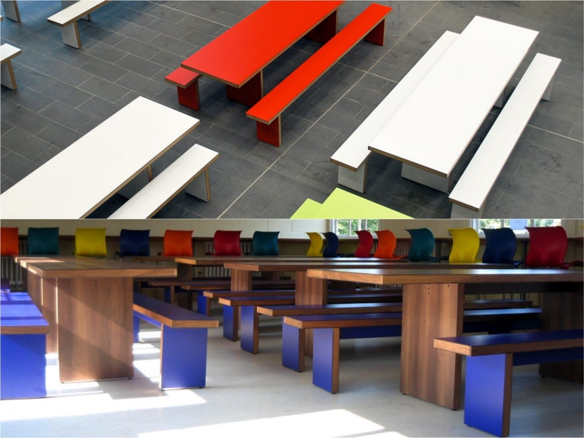 1School inspiration interiors jb waldo set bench canteen seating tables spaceist blog post