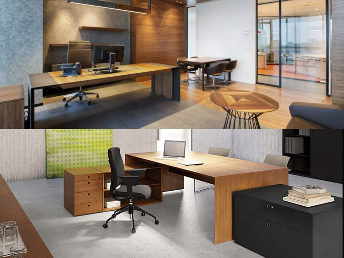 1executive office design forty5desk wood philip morris office design spaceist blog post