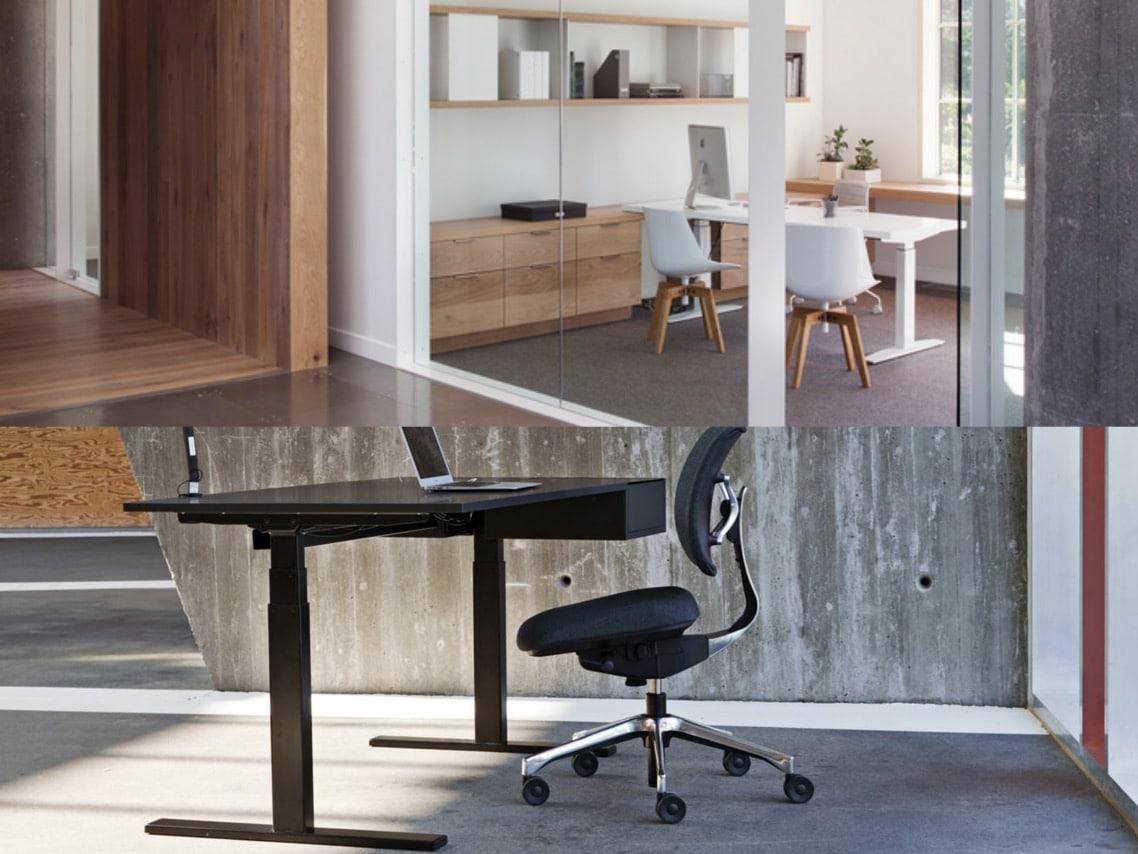 1executive office desk U standing desk design danish spaceist blogpost