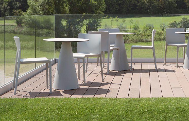 Round Cafe Table White