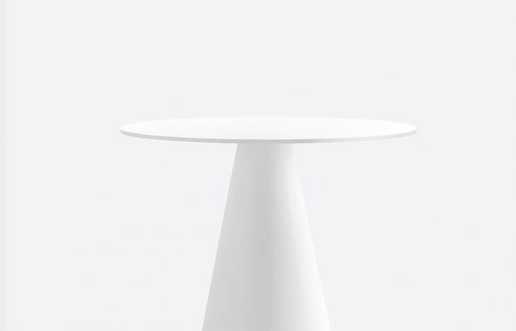 White Table Close-up