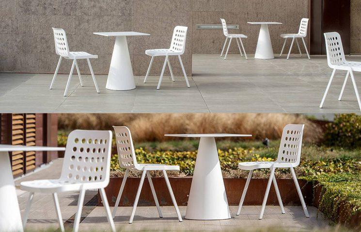 2 Person White Table Plastic