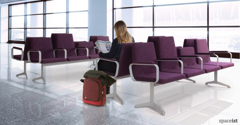 213 airport style seating in purple