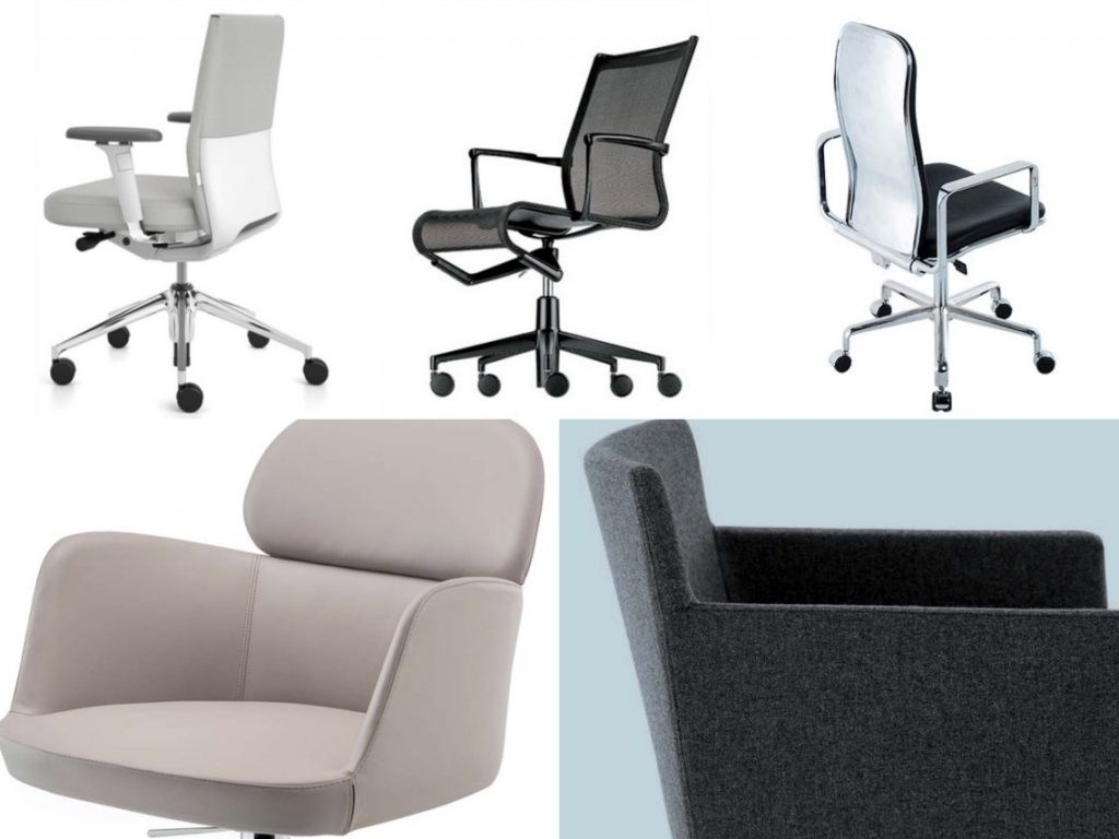 workplace seating office desk chairs by five designers. Black Bedroom Furniture Sets. Home Design Ideas