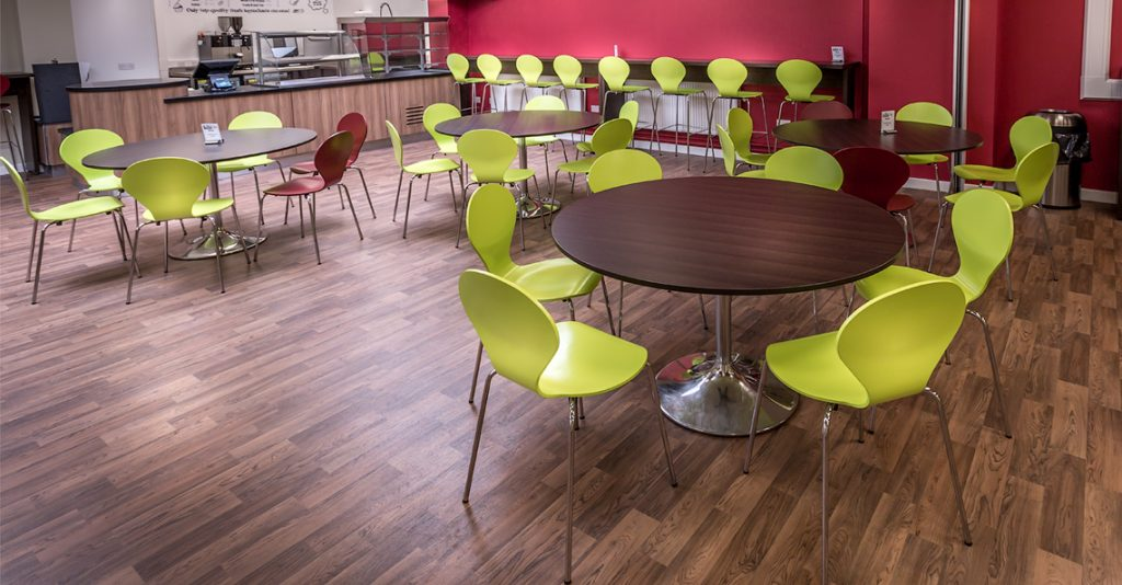 Furnishing A Flexible Canteen Space For Guilford College