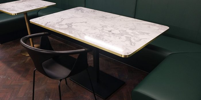Brass Edged Table
