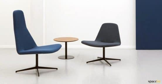 Black + blue reception chair