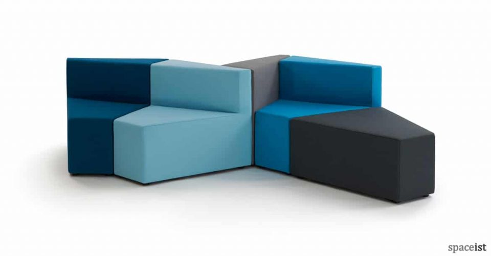 77 sofa in blue and black modular set up