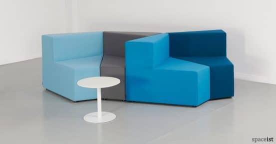 77 blue angular office sofas