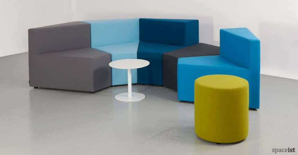 77 booth style office sofa in blue