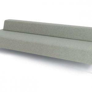 93 long low office reception sofa in light grey fabric