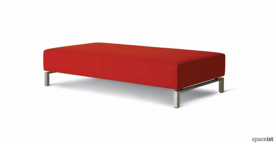 93 large low office reception stool in red