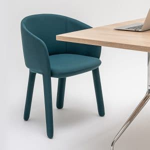 Meeting chair with table