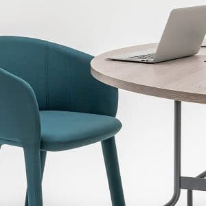 Round meeting table and chair