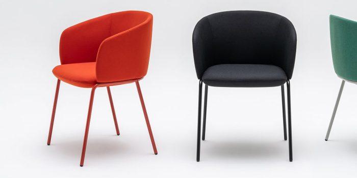 Orange + black chairs