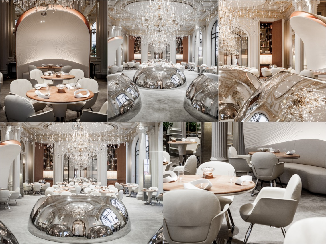 Alain Ducasse Plaza athenee paris luxury interiors spaceist blogpost