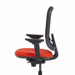 Red + Black Office Swivel Chair