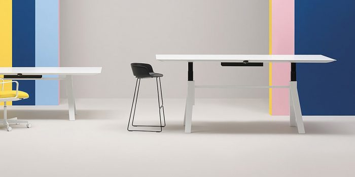 Large Height Adjustable Meeting Table