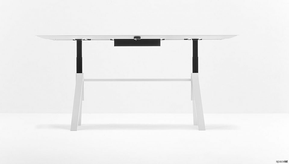 White Adjustable Meeting Table
