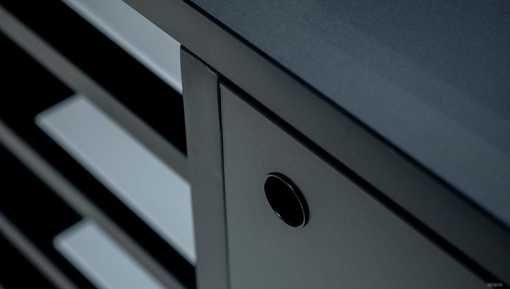 Black Cabinet Detail