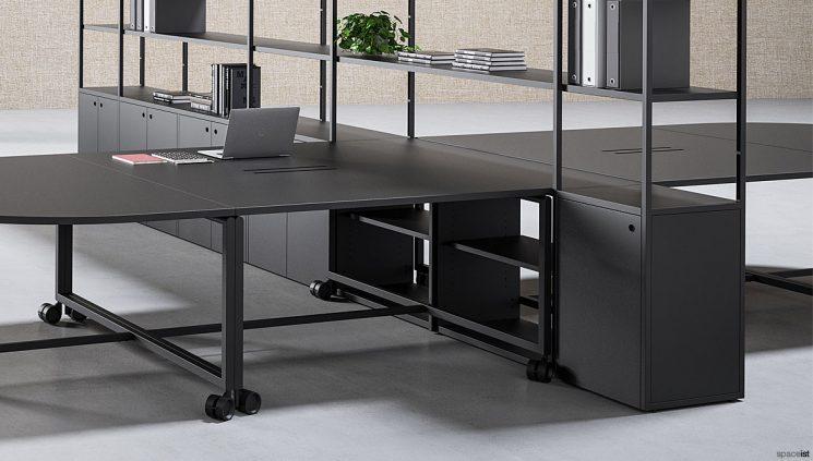 Black Desk + Shelving