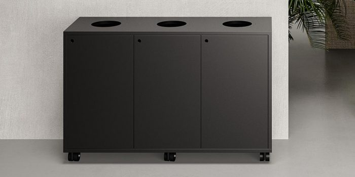 Office Recycling Bin Black