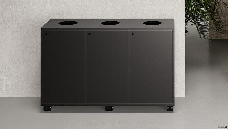 Office Recycling Bin Black