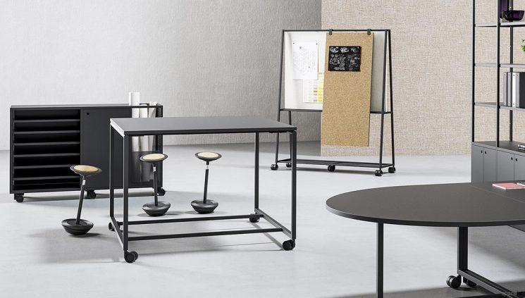 Standing Black Meeting Table