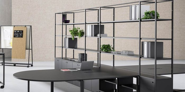 Integrated Desk + Shelving