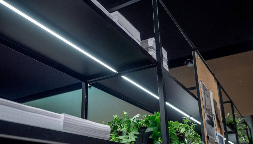 Shelving with LED light