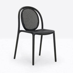 Cafe Chair with a Rounded Back