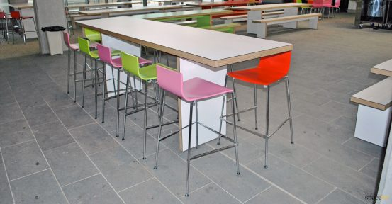 school high table with stools