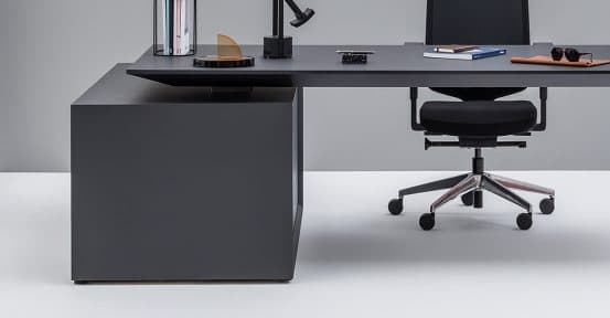 Black Desk Closeup