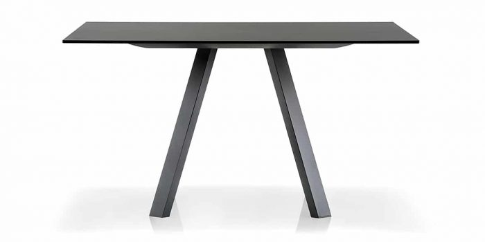 Black Square Meeting Table