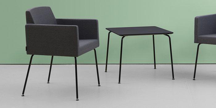 Black Tub Chair + Table