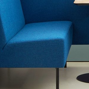 Booth Seating Blue Fabric