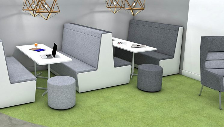 Booth Grey Seating