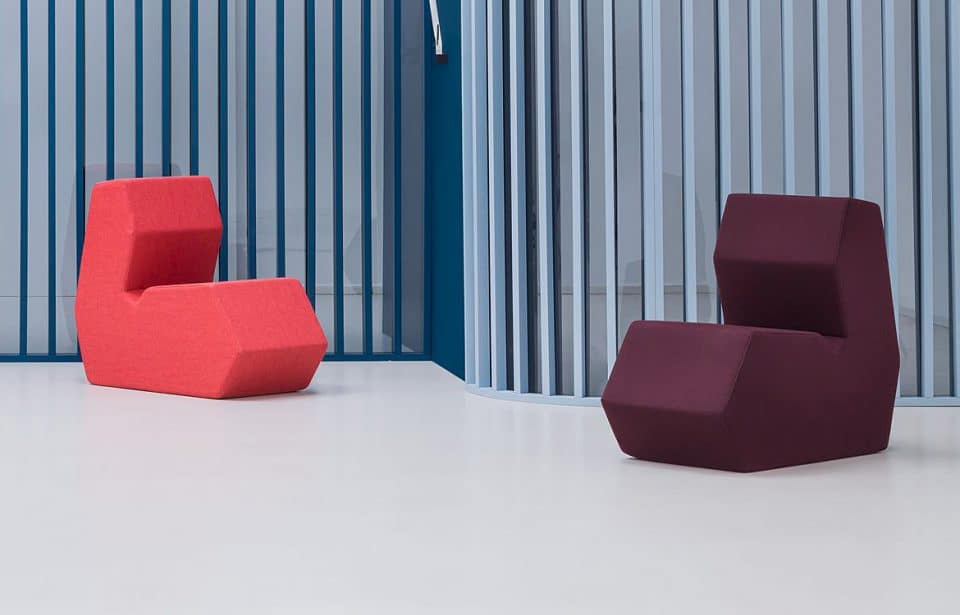 Colourful lounge chairs