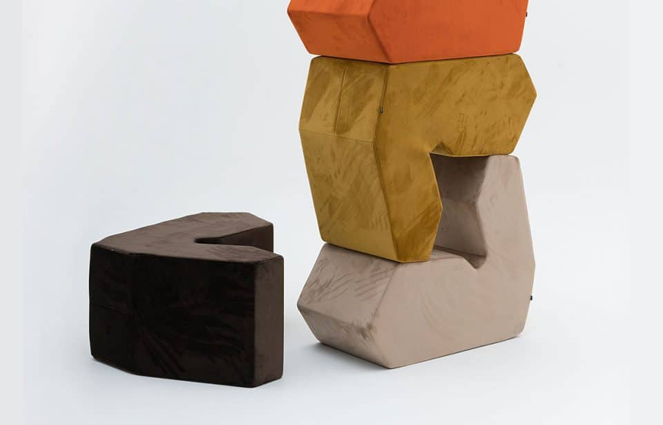 Stacking fabric breakout chairs