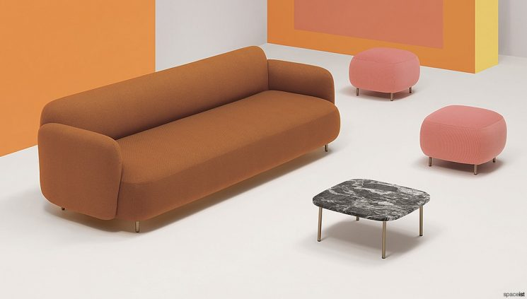 Long Rounded Office Sofa