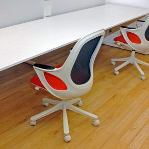 ornage desk chairs