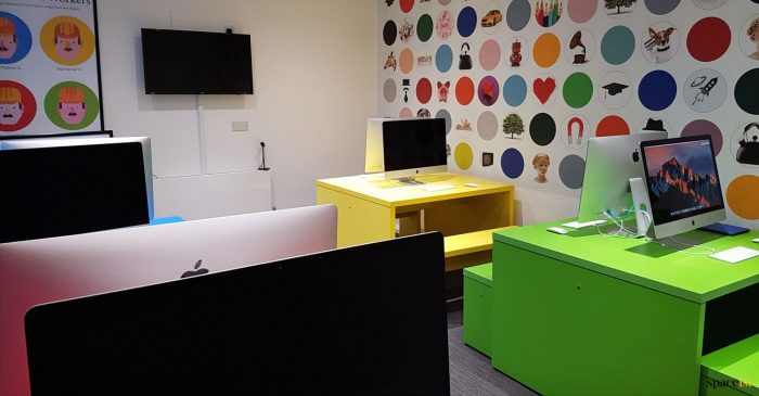 School computer desk colour