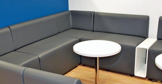 Youth club corner seating