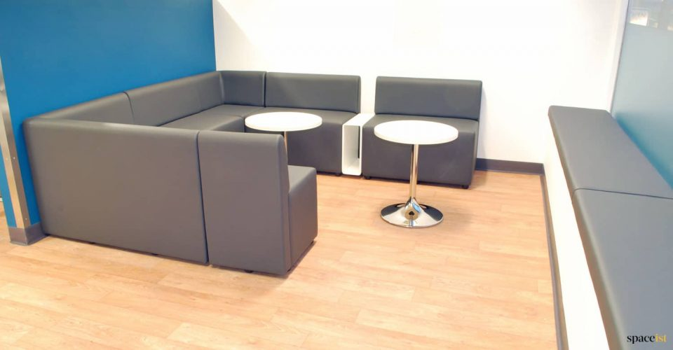 Booth seating in youth club