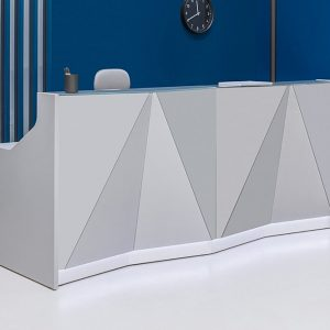 Counter with Silver Front