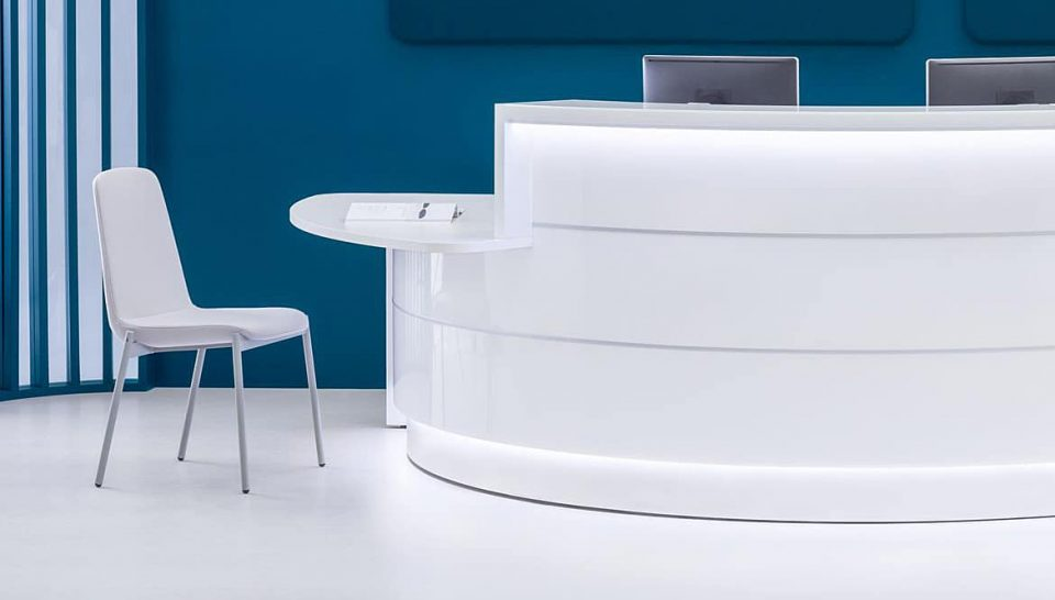 Curved Clinic Reception Counter
