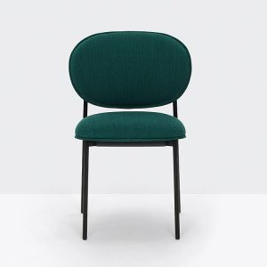 Green Chair with Black Legs