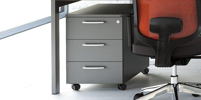 Dark grey under desk drawers