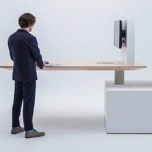 Standing Desk with Screen